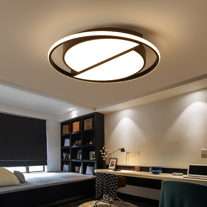 White black LED modern ceiling lamp with remote control ceiling light living room kitchen lamps ceiling indoor lighting