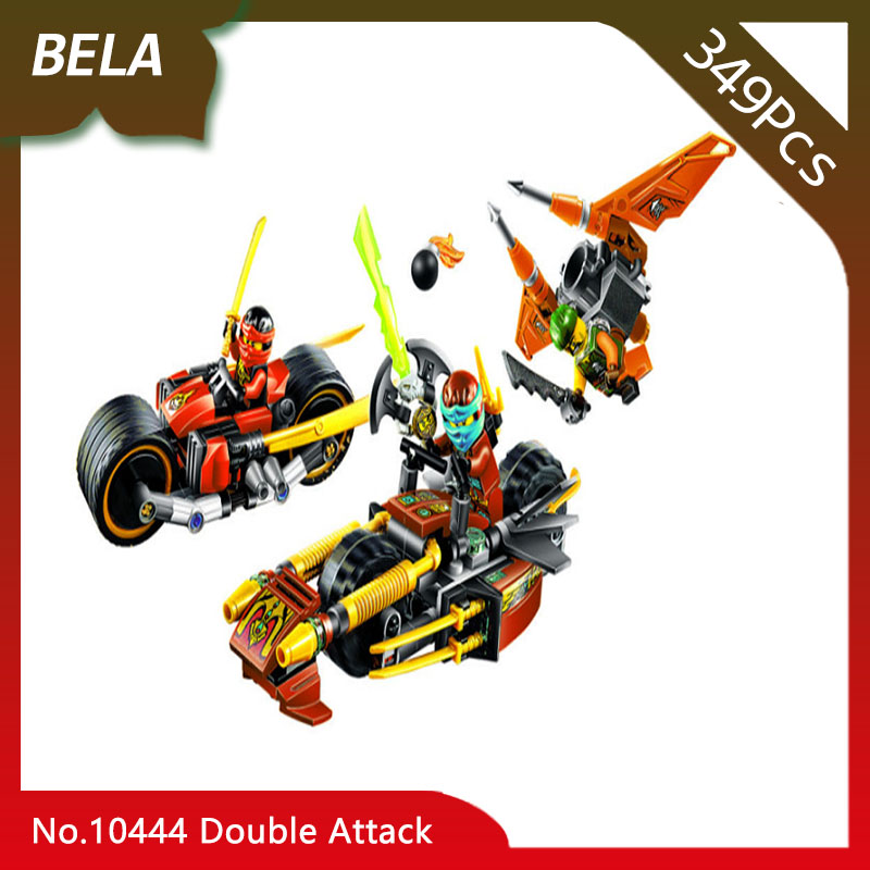 Bela 10444 349pcs Ninja Series Double Tolerance Attack Building Blocks Set Bricks Kids Favourite Toys For Gifts Compatible 70600