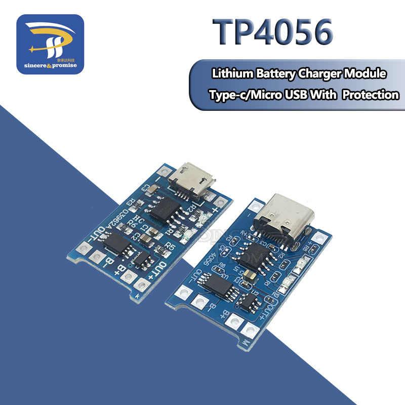 1A 18650 بطارية ليثيوم لوح حماية المصغّر usb/Type-c شحن وحدة TP4056 مع حماية وحدة لوحة واحدة TC4056