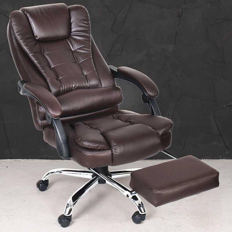High Quality Super Soft Leisure Lying Office Chair Swivel Lifting Boss Chair Fashion Household Computer Chair With Footrest