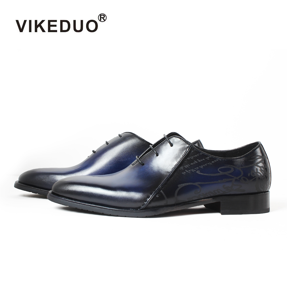 Vikeduo 2018 Handmade Designer Mens Oxford Shoe Genuine Leather Fashion Luxury Wedding Party Formal Dance Brand Male Dress Shoes vikeduo 2018 handmade brand italy shoes fashion designer wedding party office male dress shoe genuine leather mens oxford zapato
