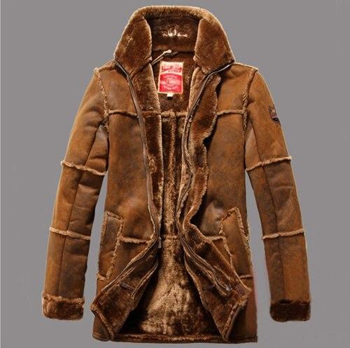 Leather winter jacket 2014 men warm men's clothing jaqueta de ...