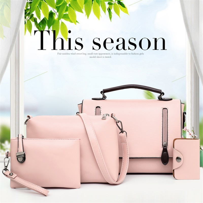 Popular High-class Design Fashion 4 piece set Women handbag Female Brand Shoulder Bags mujer Handbags Casual Lady bagsPopular High-class Design Fashion 4 piece set Women handbag Female Brand Shoulder Bags mujer Handbags Casual Lady bags