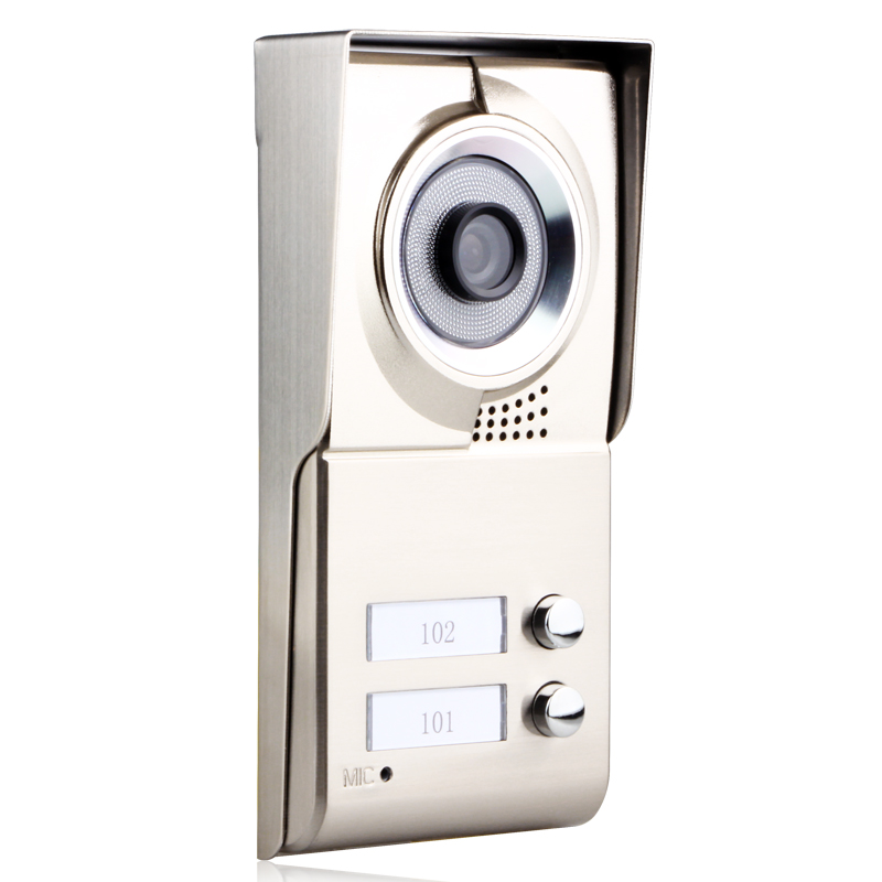 Image 3 - MAOTEWANG 7inch LCD 2 Apartments Video Door Phone Intercom System HD 1000TVL Doorbell Camera-in Video Intercom from Security & Protection