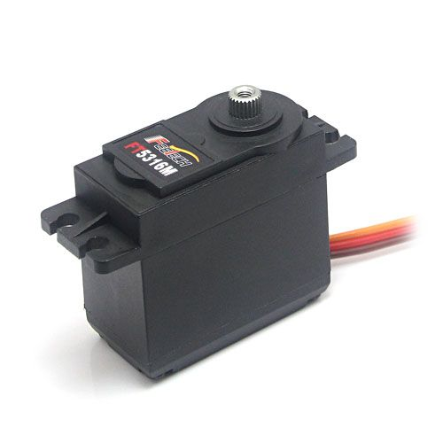 2 PCS lot  FEETECH Standard 15kg.cm Metal Gear Digital Servo for RC car, rc boat, rc robot and rc helicopter FT5316M
