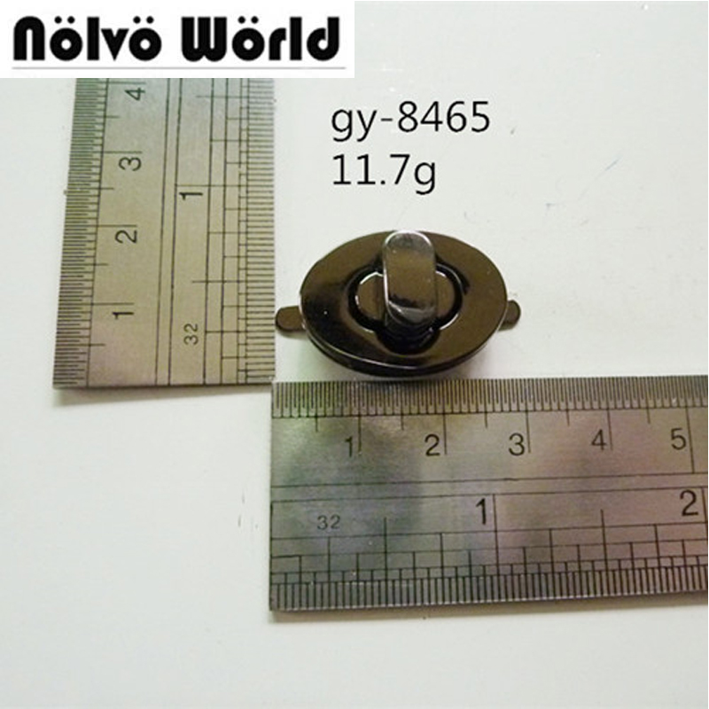 Gun black color small turn lock bags metal functional twist locks for handbags wallets DIY workshop