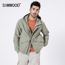 SIMWOOD 2020 봄 뉴 후드 자켓 남성 캐주얼 패션 코트 고품질의 브랜드 의류 윈드 브레이커 190081