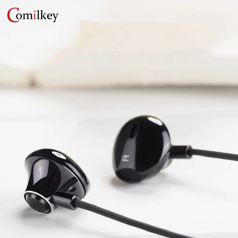 Comilkey SM-10 Bass In-ear Earphones With Mic Super Clear Metal Earphone Noise isolating Earbuds For iphone 6 Xiaomi MP3 PC переходник cablexpert mini displayport hdmi 0 1м белый a mdpf hdmim 001 w