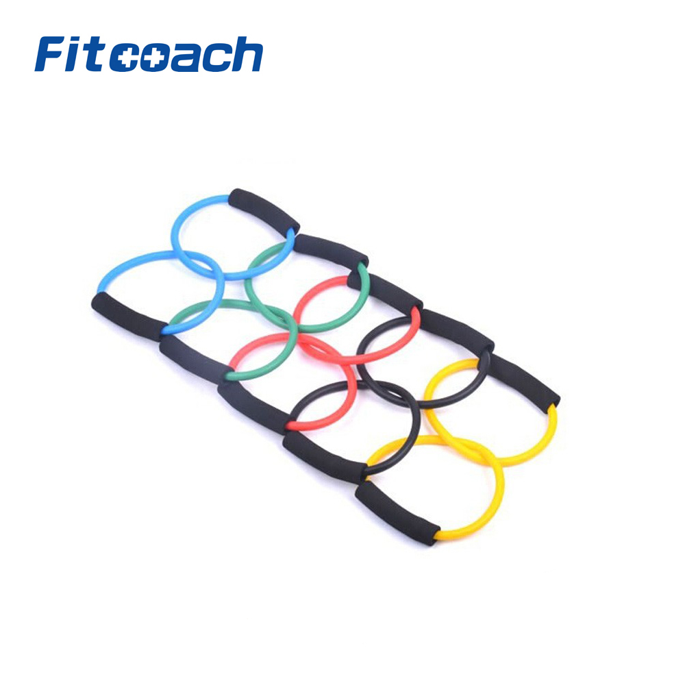Light TPR New Double Rings Resistance Bands Tube Workout Exercise font b Fitness b font For