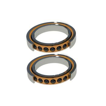 1pair 7000 7000C HQ1 P4 DB DT A 10x26x8 Open Angular Contact Bearings Speed Spindle Bearings CNC ABEC-7 SI3N4 Ceramic Ball