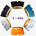 Marcas de alta Qualidade Homens Cueca Jockstrap Boxers Cuecas Sexy Plus Size L ~ 5XL 4 Pçs/lote