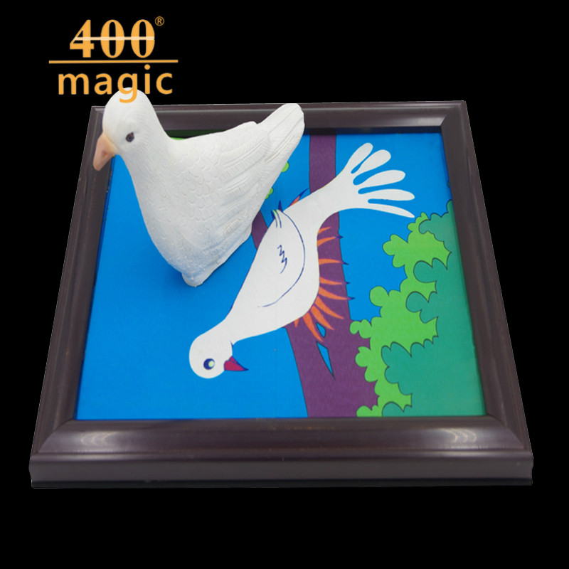 Dove Frame (One Dove Version), Dove Appearing From Picture,Magic Tricks,Stage,Illusions,Accessories,Gimmick,Prop,Comedy light heavy box remote control magic tricks stage gimmick props comdy illusions accessories mentalism