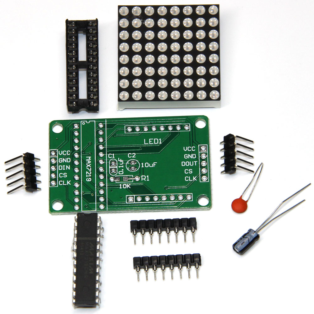 Hot Sale Smart Electronics Max7219 Max 7219 Dot Matrix Led Display Circuit Module Diy Kit Mcu Control For Arduino