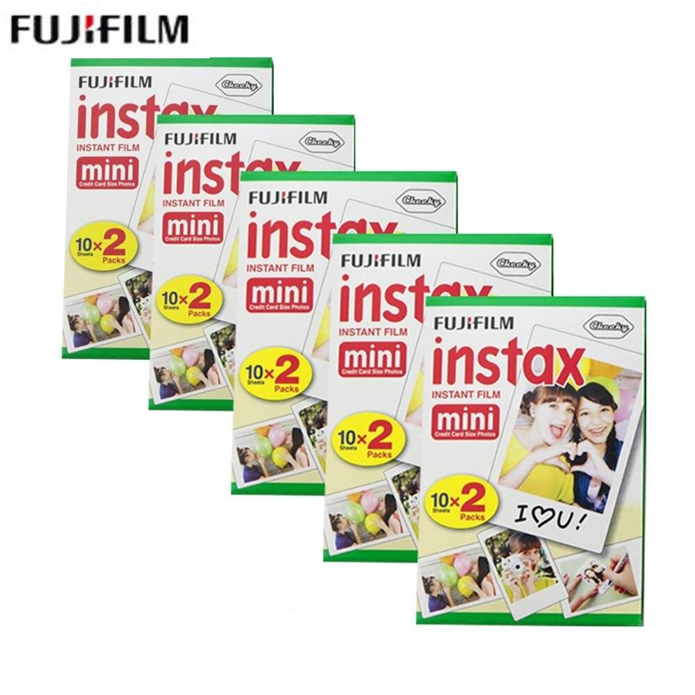 Fujifilm Fuji instax mini 8 9 FILM 100 feuilles appareil photo papier pour mini 8 9 7 s 7C 25 50 s 90 film instantané appareil photo papier