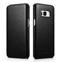 ICarer для Galaxy S 8 плюс деловая сумка бумажник чехол Премиум Натуральная Кожа Folio телефона чехол для Samsung Galaxy S8 + SM-G955