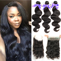 360 Lace Frontal With Bundle 8A Brazilian Virgin Hair Body Wave With Frontal Closure 360 Lace Frontal 3 Bundles With Closure