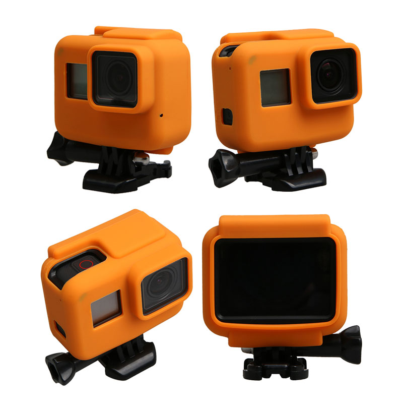 Colorful Soft Silicone Rubber Frame Protective Case for GoPro Hero 5 Black Protective Cover for Go Pro 5 Camera Accessories (7)