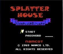Splatterhouse (Eng) Spiel Karte Für 72 Pin 8 Bit Spiel-Player