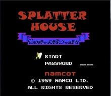 Splatterhouse (Eng) Карточная игра Для 72 Pin 8 Бит Игры Игрок