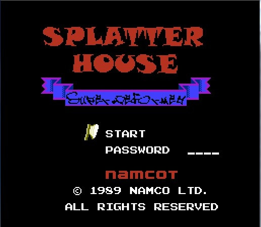 Splatterhouse (Eng) <font><b>Game</b></font> <font><b>Card</b></font> For <font><b>72</b></font> <font><b>Pin</b></font> 8 Bit <font><b>Game</b></font> Player image