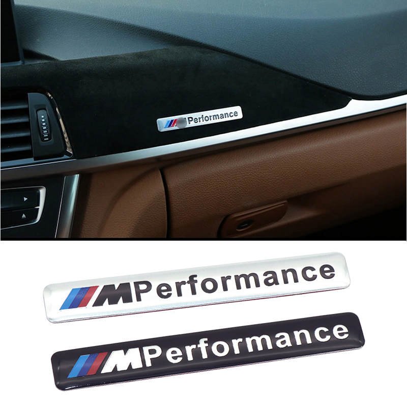 Newest Car Decoration M Performance Motorsport Aluminum Stickers Decals for BMW E34 E36 E39 E53 E60 E90 X1 X3 X5 X6 3 5 7 Series cool car auto decoration badge stickers m logo metal 3d car sticker for bmw m3 m5 x1 x3 x5 x6 e36 e39 e46 e30 e60 e92 all model