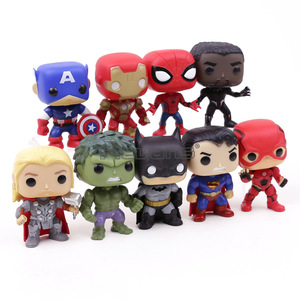 Image 2 - Экшн фигурки супергероев DC, Мстители, Капитан Америка, Железный человек, Человек паук, Черная пантера, Тор, ПВХ, 9 шт./компл.