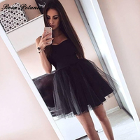 New Arrival Women Casual Solid Ball Gown Dress Spaghtti Strap Cute Sweet Party Dresses Black Mini