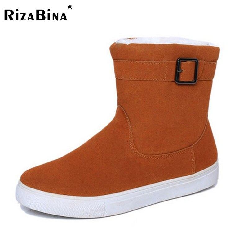 Boyutu 35-40 Rusya Kış Sıcak Kalınlaşmış Kürk Kadınlar Düz Yarım Kısa Ayak Bileği Kar Botları Pamuk Kış Ayakkabı Çizme ayakkabı