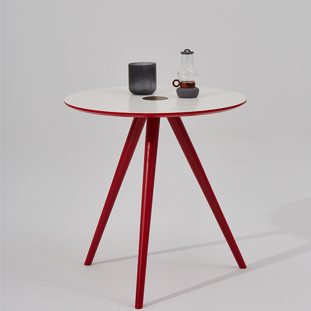 [InYard original] white small family of northern Europe simple fashion home two small table small round  table