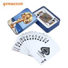 New High Quality Tinplate Box PVC Baccarat Texas Hold'em Poker Waterproof Plastic Playing Cards Creative Pattern Gift Board Game new high quality tinplate box pvc baccarat texas hold em poker waterproof plastic playing cards creative pattern gift board game