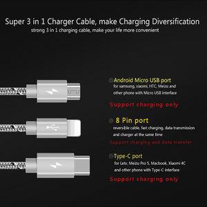 Image 2 - llano USB Type C Fast Charging usb c cable Type c data Cord Phone Charger For ipad pro Samsung S9 S8 Note 9 pocophone F1 Xiaomi