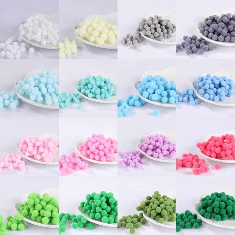 60pcs Pack 15mm Pompom Multi Color Fur Craft Diy Soft Pom