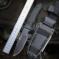 HX FREIEN 58-60 HRC D2 klinge erweiterte gummi griff jagd feststehende messer outdoor camping taktische utility messer überleben hardn