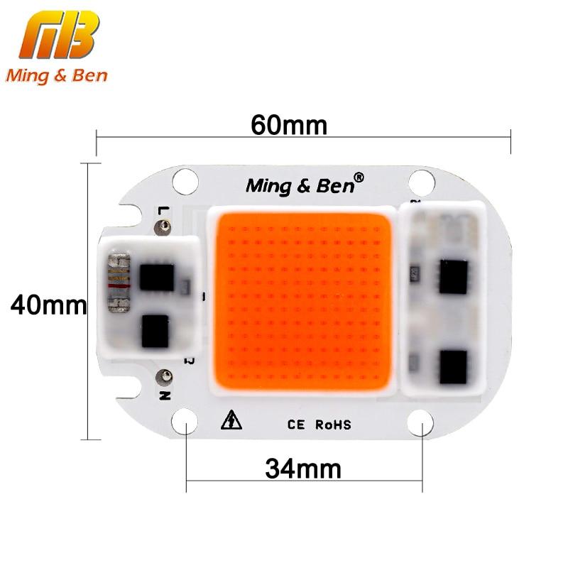 LED COB Chip For Grow Plant Light Full Spectrum 220V 110V 20W 30W 50W For Indoor Plant Seedling Grow and Flower Growth Lighting 3