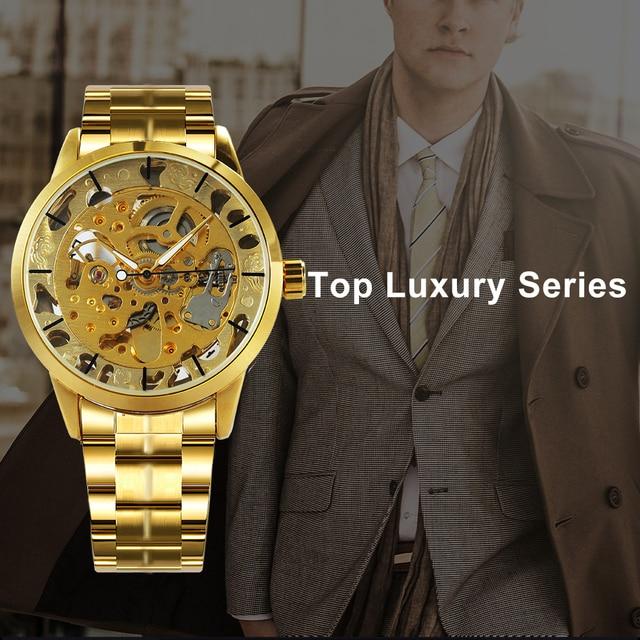 WINNER Men's Skeleton Dress Automatic Mechanical Watches 1