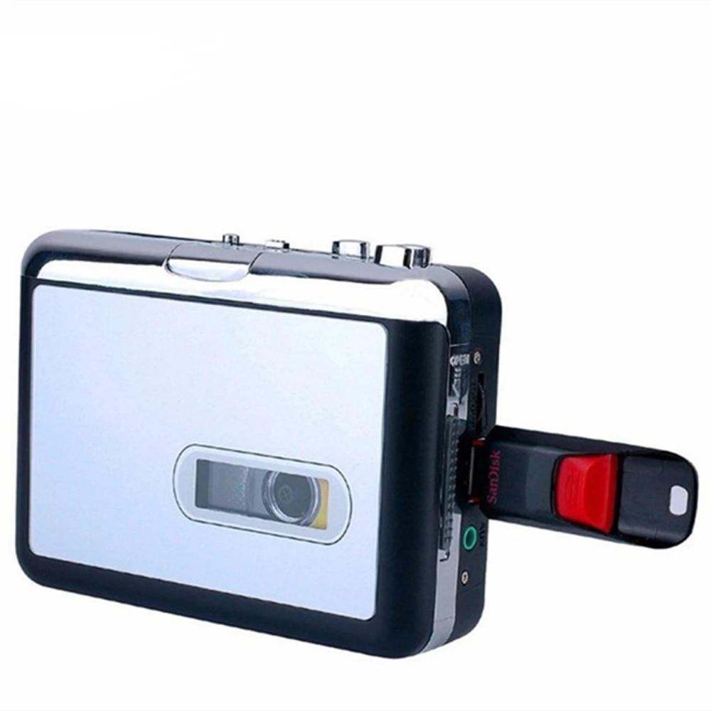 Exliy Lecteur de Cassette convertisseur de Cassette USB en Lecteur de Musique Audio Walkman convertisseur de Cassette en MP3 convertisseur de Musique//Cassette Audio USB num/érique Portable