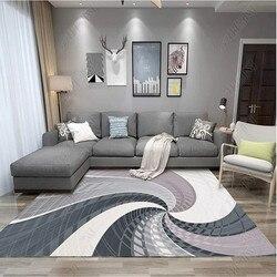 Personalizado estilo nórdico arte abstrata tapetes para sala de estar alta qualidade retângulo geométrico mesa café quarto sofá tapete