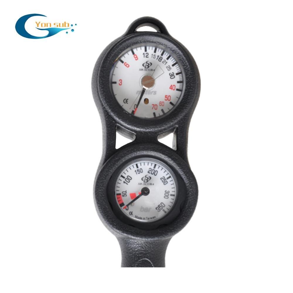 YONSUB Professtional SCUBA diving 2 Gauge Diving pressure gauge depth gauge compass diving digital depth gauge