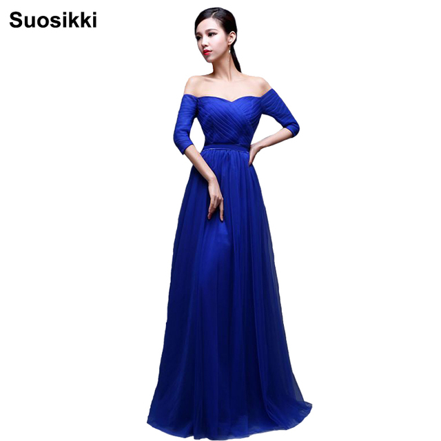 Suosikki New Design Elegant Long Evening Dress 2016 Red Short sleeve Formal  Evening Dresses Prom Party Gown Vestido 7da432bef5c6