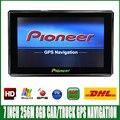 7 pulgadas HD Gps de Navegación Bluetooth FM AVIN 8 GB/256 MB Vehículo camión de windows CE 6.0 GPS navigator Europe Sat nav Mapas de Por Vida
