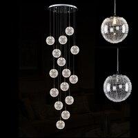 Double Floor Villa Revolving Stair Lamp Pendant Lights Modern Minimalist Hotel Lobby Pendant Light Cafe Bar