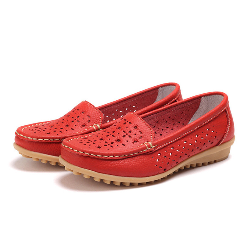 2017 Women Casual Shoes PU Leather Flats Buckle Loafers Casual Slip On Soft Women Shoes Cut-outs Moccasins Flat Shoes DT918 2017 autumn fashion men pu shoes slip on black shoes casual loafers mens moccasins soft shoes male walking flats pu footwear