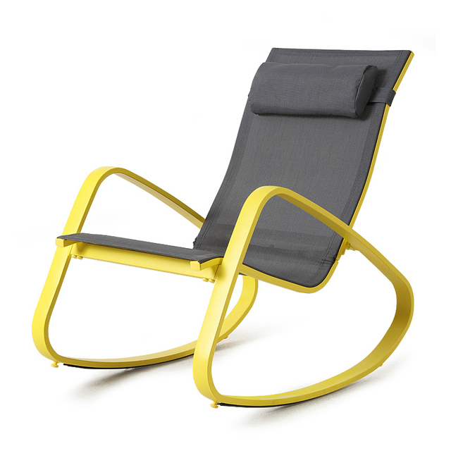 Fashion High Quality Outdoor Balcony Chair Sun Lounger Rocking Chair Soft  Lazy Leisure Comfortable Chair Household