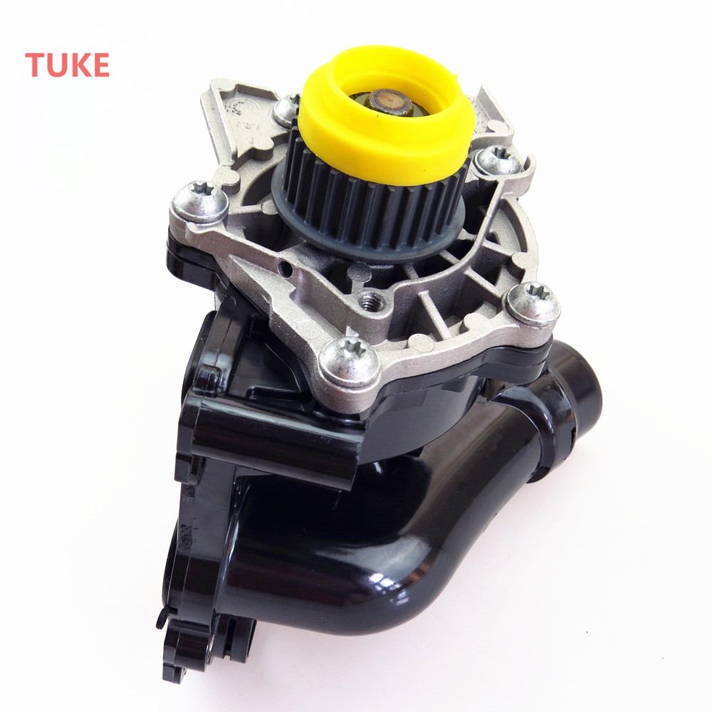 For 1.8T 2.0T Engine Cooling Water Pump Assembly Fit VW Jetta Golf Tiguan Passat B6 Octavia Seat Leon 06H 121 026 06H 121 026 AB plastic coolant water pipe for vw golf 4 bora a3 octavia leon toledo 06a 122 481 06a122481
