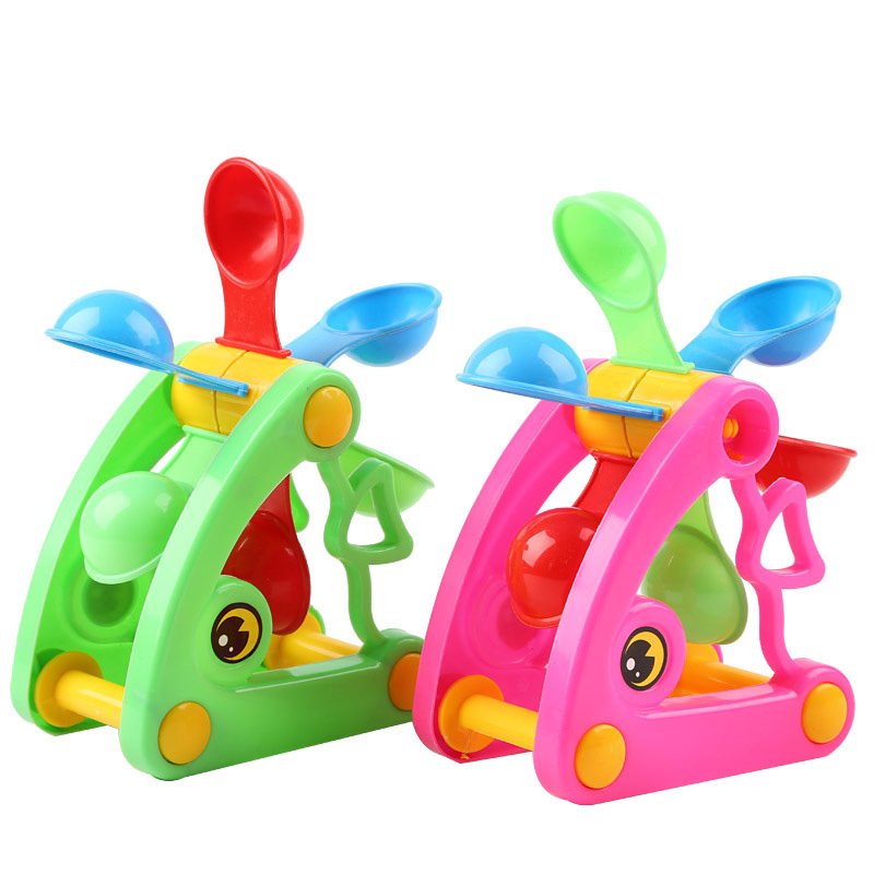 Windmill Waterwheel Summer Toys Play Sand Water Toys Tool Swimming Pool Bathing Beach Party Childs Play Kids Bath Toy