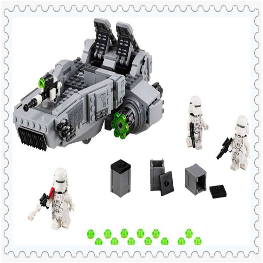 466Pcs Space Wars First Order Snow Speeder Model Building Block Toys Enlighten 10576 Gift For Children Compatible Legoe 75100 toys in space