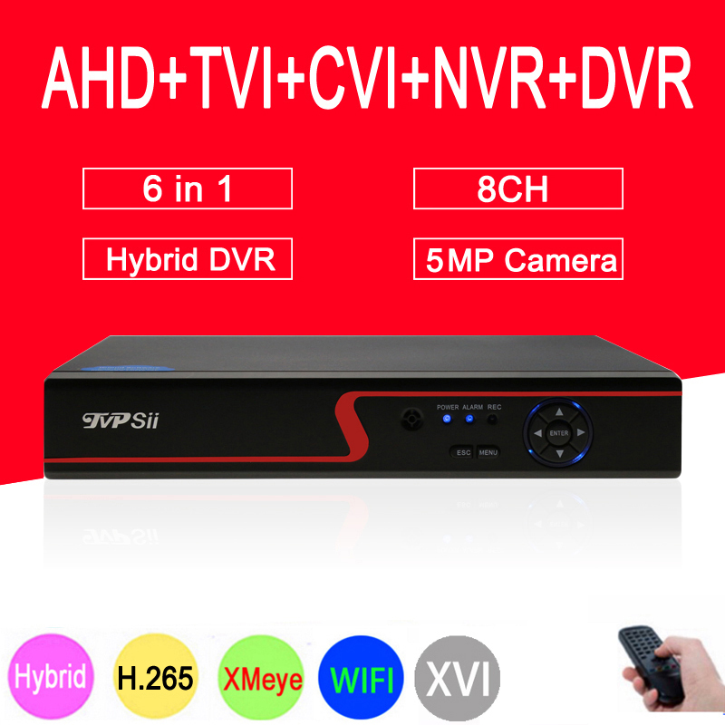 Red Panel 5MP Surveillance Camera Hi3521D XMeye 8CH 8 Channel 6 in 1 WIFI Coaxial Hybrid