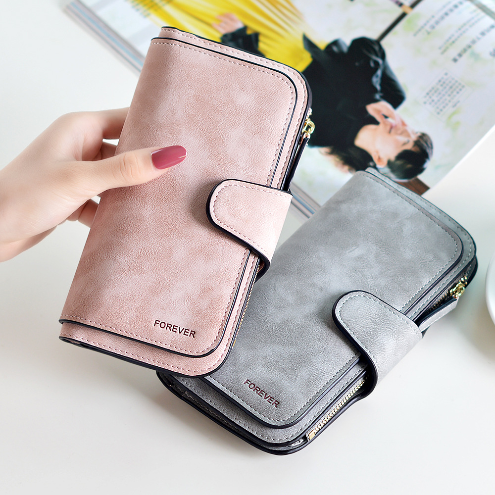 2018 Women Brand Zipper PU Leather Wallet High Quality Long Coin Purse Ladies Dollar Price Hasp Wallet Handbag Carteira Feminina