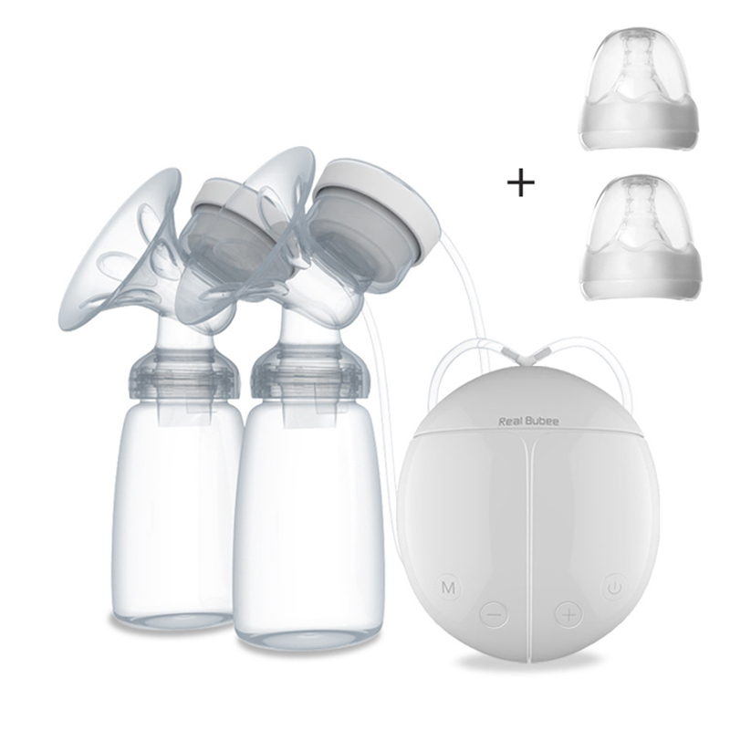 Single/Double Electric Breast Pump With Milk Bottle BPA Free Powerful Breast Pumps Baby Breast Feeding USB Electric Breast Pump