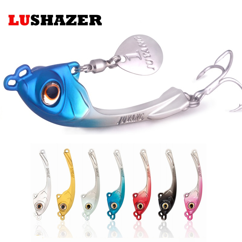 LUSHAZER Free shipping fishing lures spoon vib lure 7g 10g 15g metal baits hard fishing lure spinnerbait China fishing tackle spoon fishing lure metal bait gold silver 10g 15g 20g hard lure spoon bait fishing lures free shipping